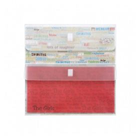 Pasta Yes Scrap Envelope Duplo Velcro - Transparente