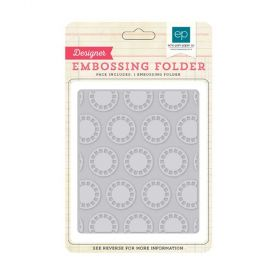 Placa de Textura Echo Park - Embossing Folder - ViewFinder - BDG85035