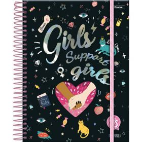 Planner 2021 Médio APS Teen Girl Power Black - Foroni