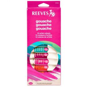 Tinta Guache Reeves - Artist Colours 12ml com 12 cores