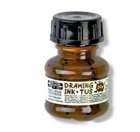 Tinta Nankin Drawing Ink Tus - Koh-I-Noor Marrom